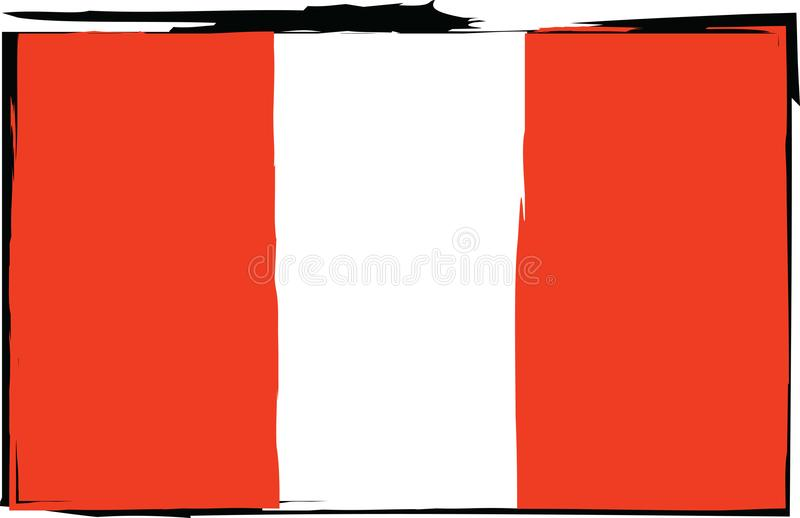 Abstract PERUVIAN flag or banner royalty free illustration