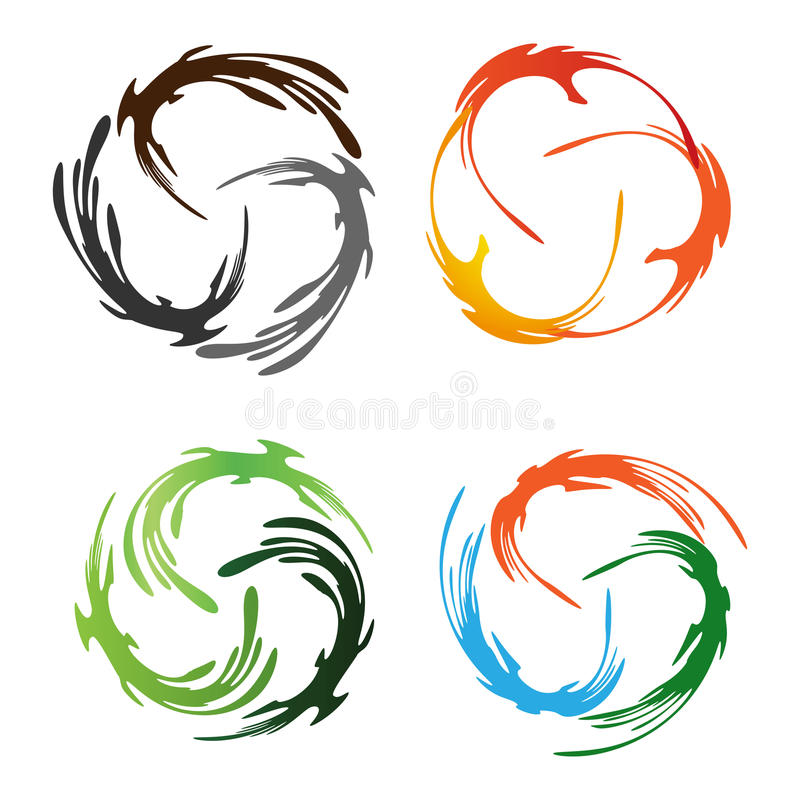 Abstract Phoenix Bird. Logo design. Vector illustration royalty free illustration