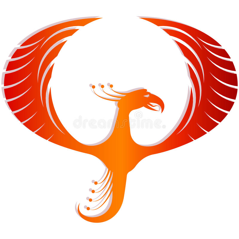 Abstract Phoenix. On White Background vector illustration