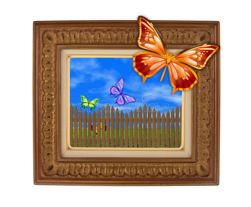 Abstract photo frame stock image