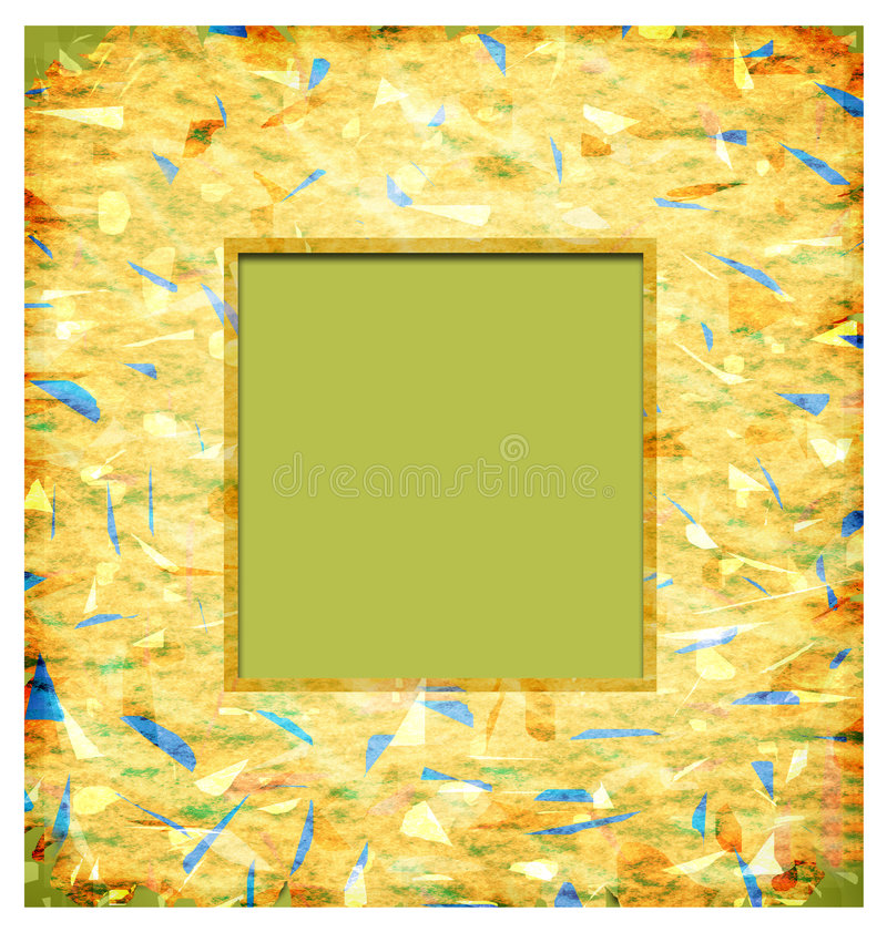 Abstract photo frame royalty free illustration
