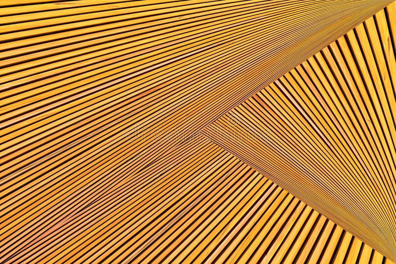 Abstract photo montage of yellow orange timber. royalty free stock image