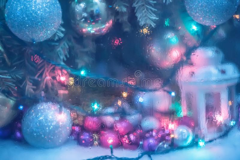 Abstract photo New Year`s Christmas holiday stock photography