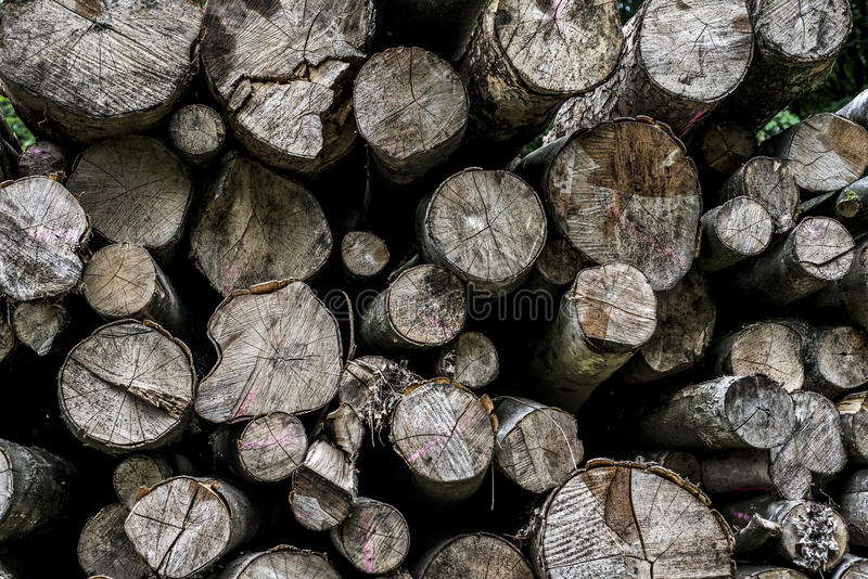 Abstract photo pile natural wood background dry chopped firewood logs ready for winter royalty free stock photography