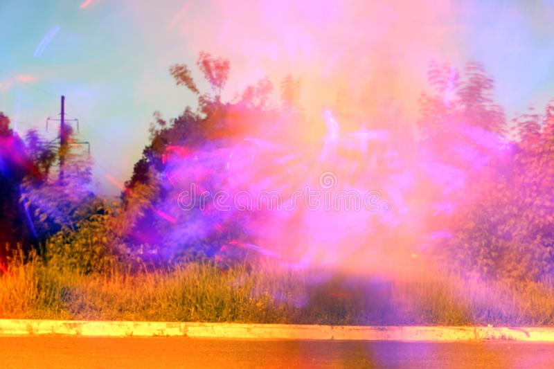 Abstract photo. Rays of light in the evening stock images
