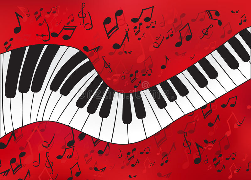 Abstract piano stock illustration
