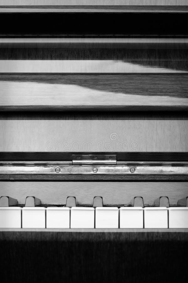 Abstract Piano in Black and White - vertical royalty free stock photography