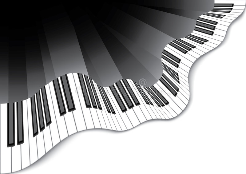 Download Abstract piano keyboard stock vector. Illustration of chord - 8405084