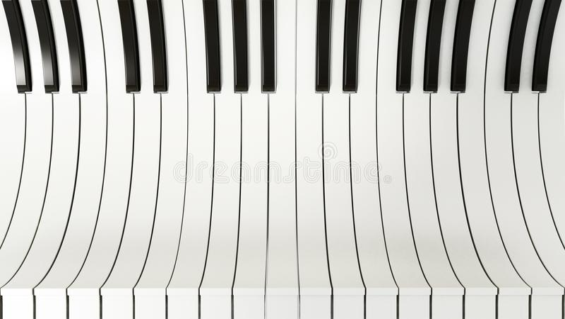 Abstract piano keys background. 3D illustration royalty free illustration