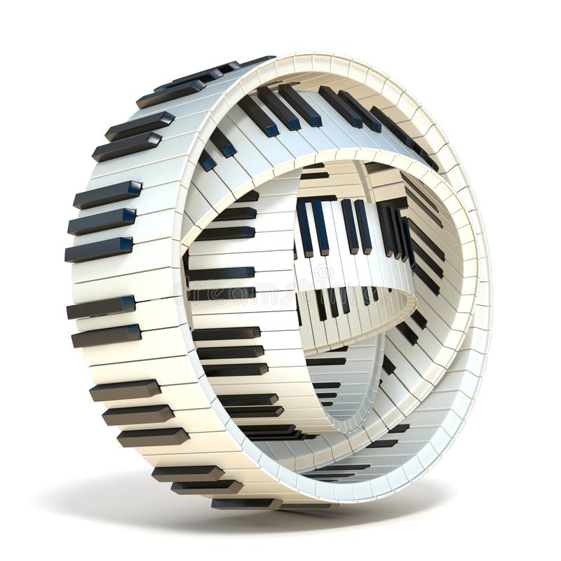 Abstract piano keys 3D vector illustration