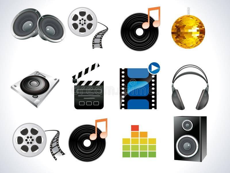 Abstract pictogram van verschillende media royalty-vrije illustratie