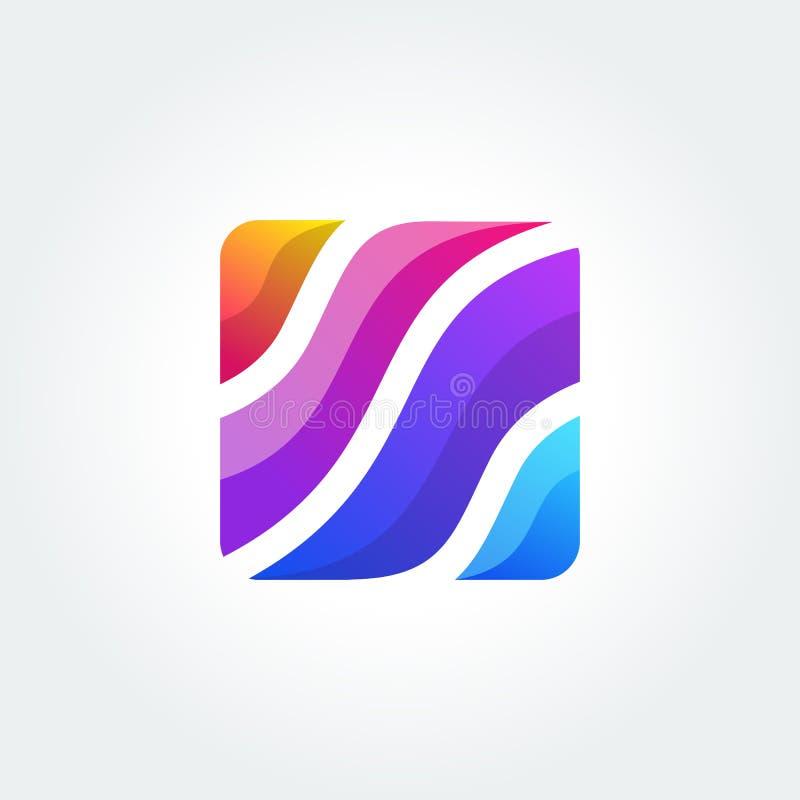 Abstract pictogram, vectorteken, kleurrijke logotype Embleem voor Media, Manier, Schoonheidsmiddelen stock illustratie