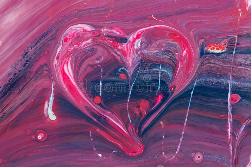 Abstract picture of the heart. Pink color in oriental style stock photos