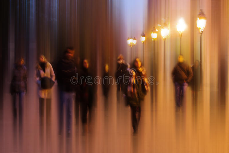 Abstract picture of night life in Paris. Abstract blurred picture of night life in Paris stock photo