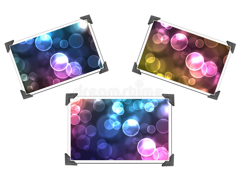 Download Abstract Pictures In Holders Stock Illustration - Illustration of background, isolated: 16181339