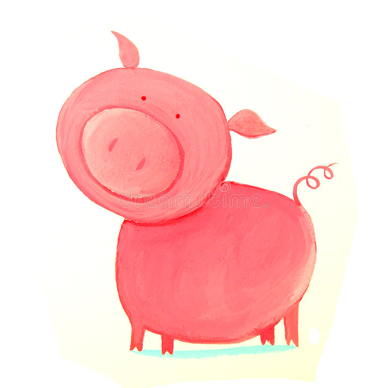 Abstract pig stock photography