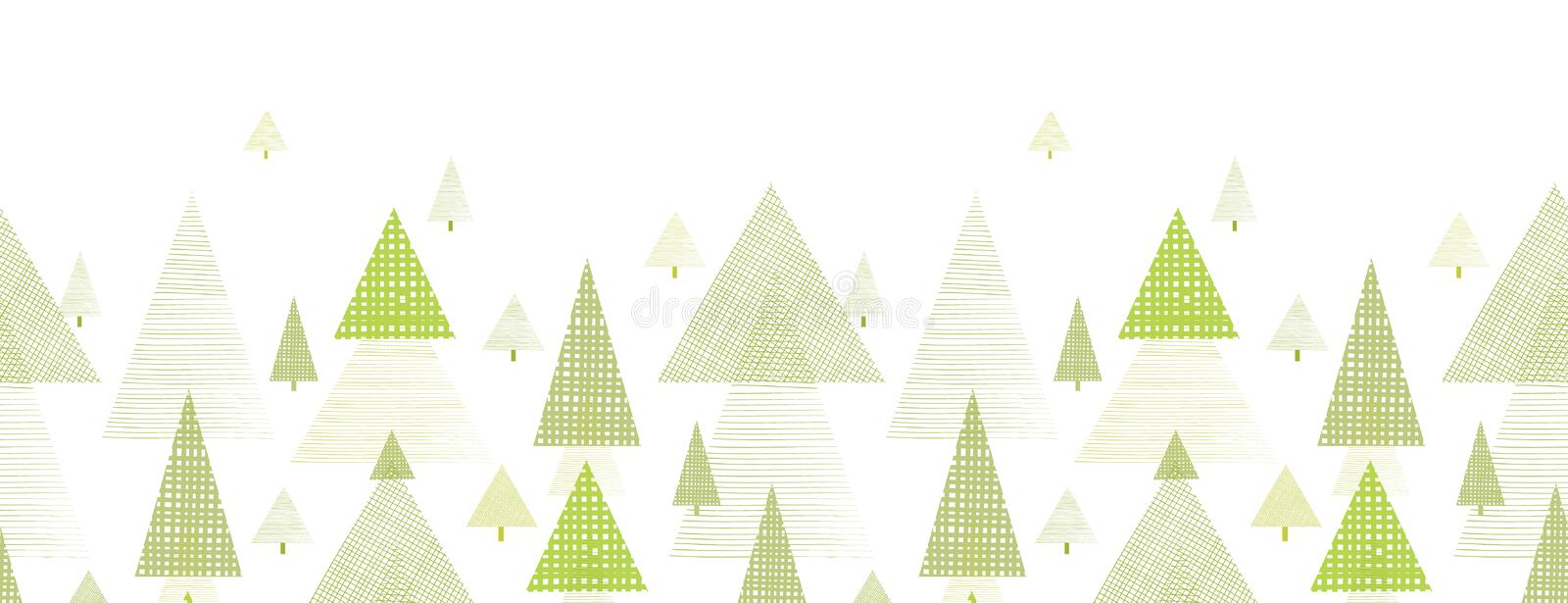 Download Abstract Pine Tree Forest Horizontal Seamless Stock Vector - Image: 32469340