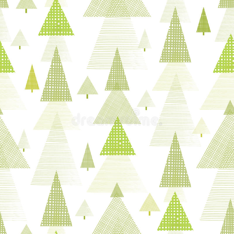 Abstract Pine Tree Forest Seamless Pattern Stock Photos