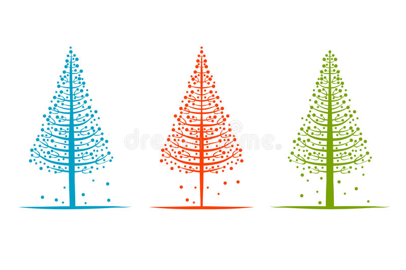 Download Abstract Pines, Sketch For Your Design Stock Vector - Image: 32001004
