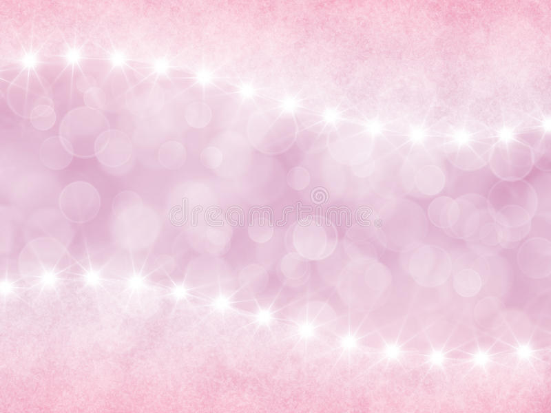 Abstract pink background with boke and stars vector illustration