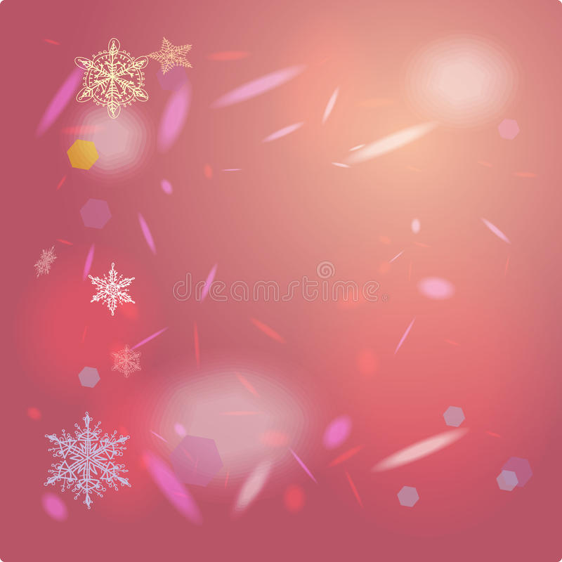 Abstract pink background card for Merry Christmas royalty free illustration