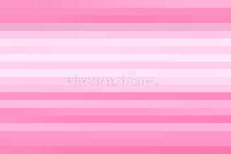 Abstract Horizontal Pink and White Stripes Texture Background stock image