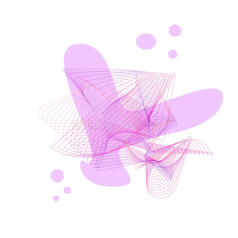 abstract pink backround for text royalty free illustration