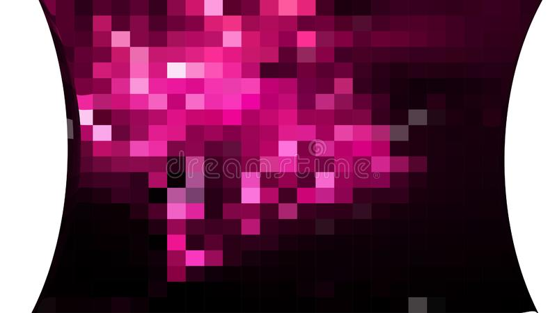 Abstract Pink Black and White Square Mosaic Tile Background vector illustration