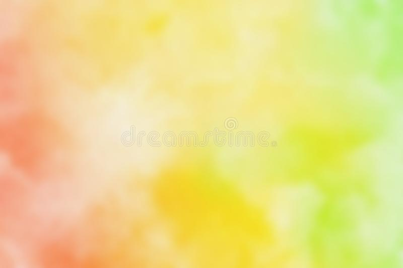 Abstract pink blue red yellow green violet purple watercolor.The color splashing in the paper.It is a hand drawn. Blurred royalty free illustration