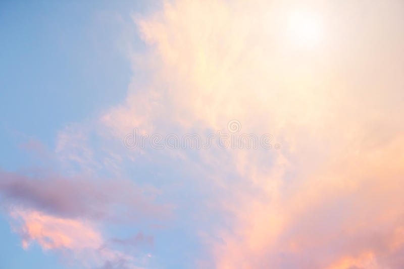 Abstract pink and blue sky stock image