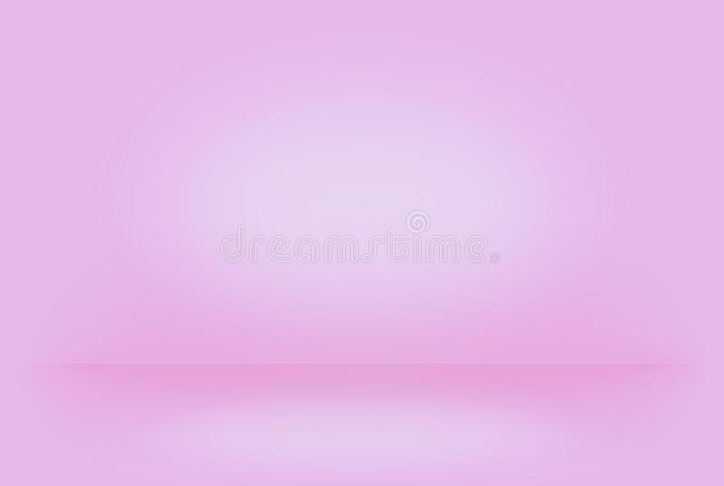 Abstract pink blurred smooth background color gradient wall royalty free illustration