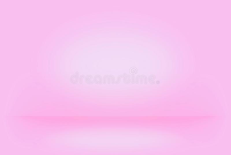 Abstract pink blurred smooth background color gradient wall can used creative concept royalty free stock images