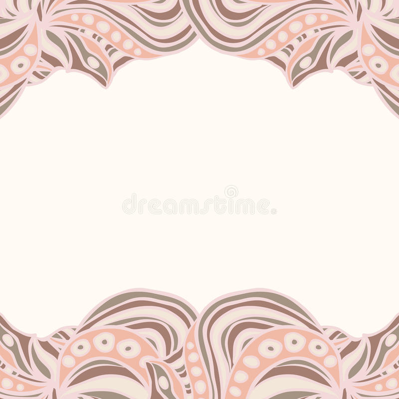 Abstract Pink Borders Stock Vector. Illustration Of Frame
