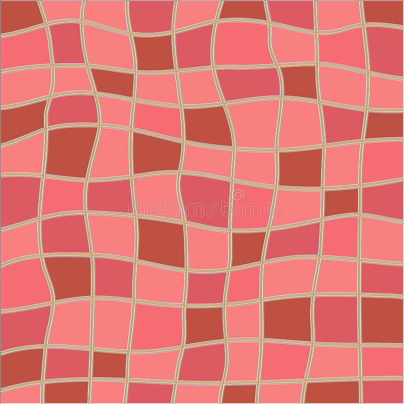 Abstract pink and brown color mosaic vector background. For your design stock illustration