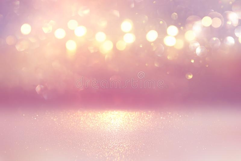 Abstract pink defocused background. bokeh lights.  royalty free stock photography