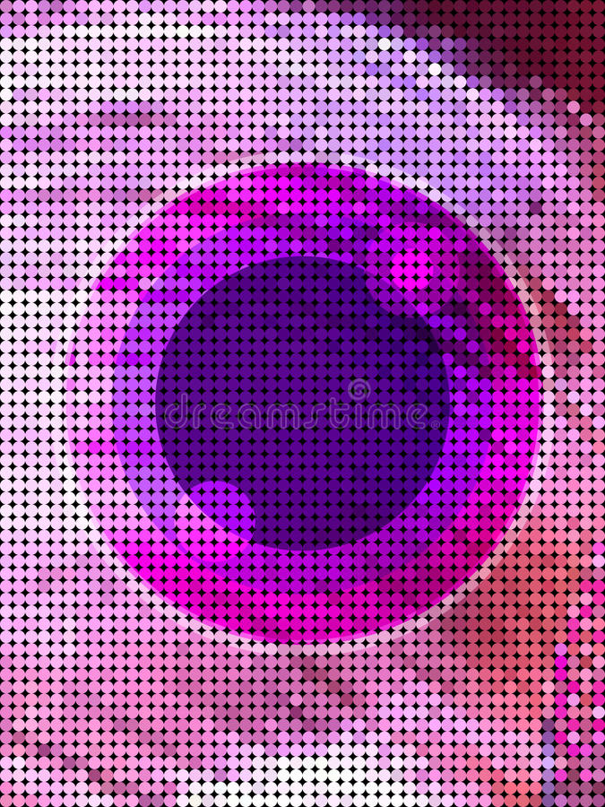 Abstract pink eye from dot pattern stock illustration