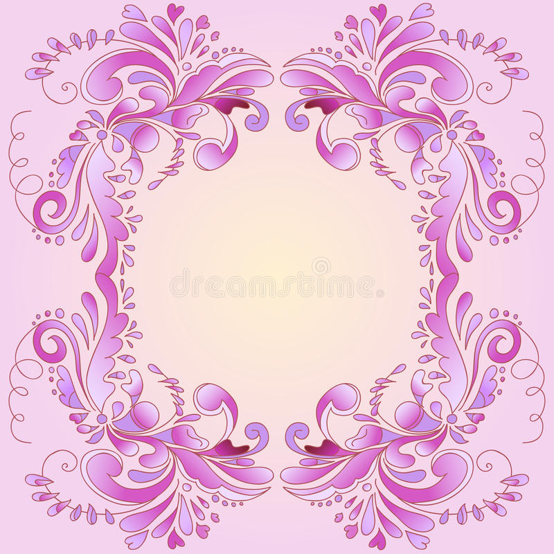 Abstract pink frame vector illustration
