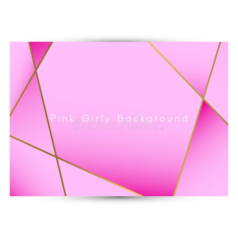 Abstract pink girly background. Feminine pink abstract background vector illustration