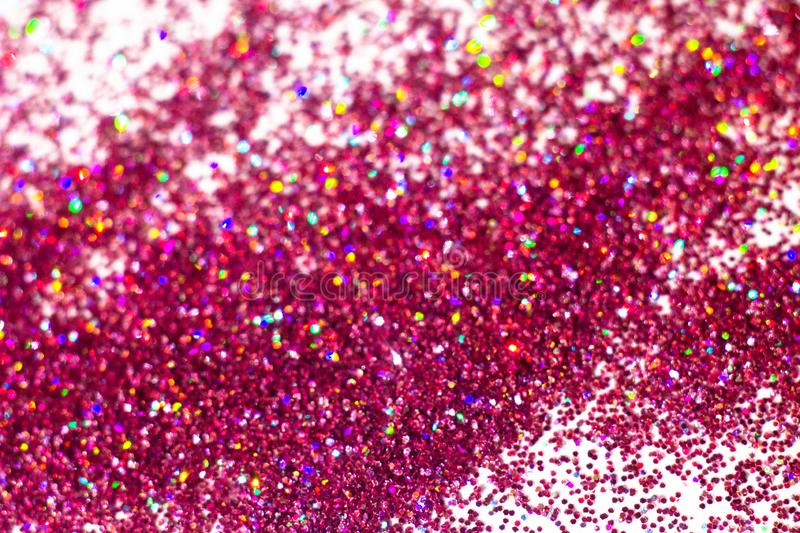 Abstract Pink glitter background with blur effect. Abstract bright shiny Pink glitter background. sparkles on white bacground stock photos