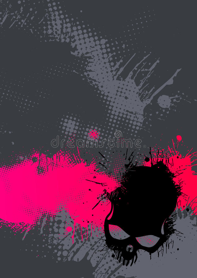 Download Abstract Pink And Gray Poster Stock Vector - Illustration of gray, splashed: 12252125