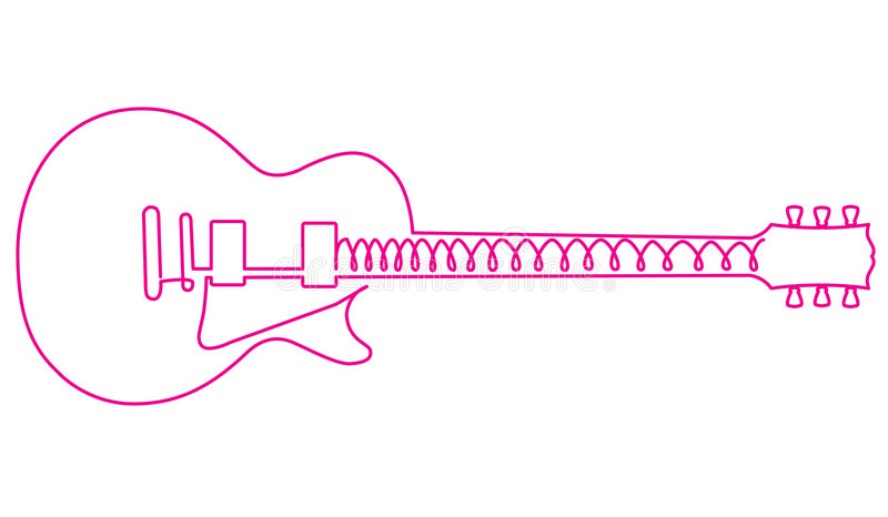 Abstract pink guitar vector illustration