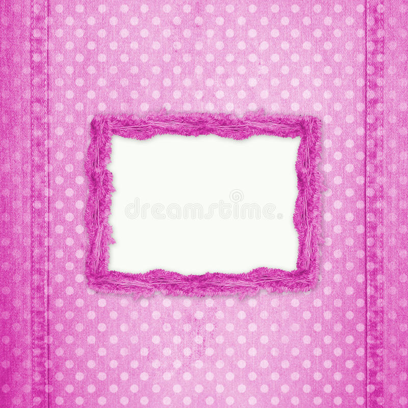 Download Abstract Pink Jeans Background With Hole Stock Illustration - Image: 11704129