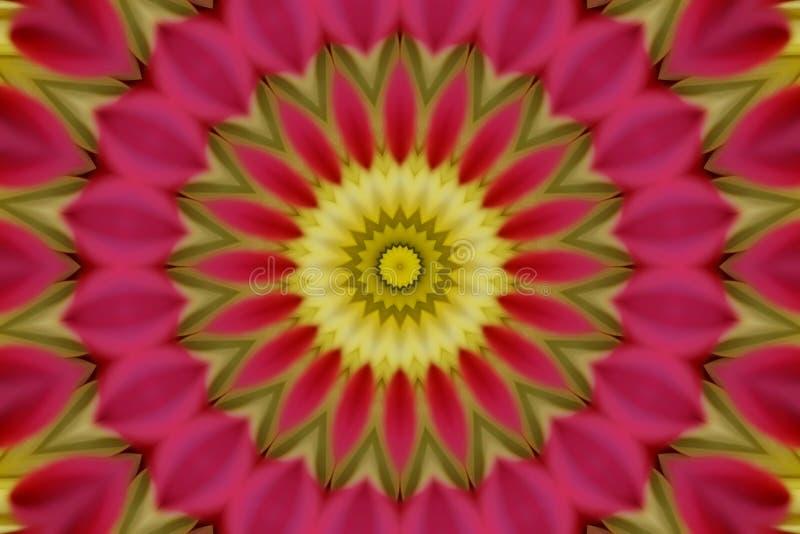 Abstract pink kaleidoscope stock image