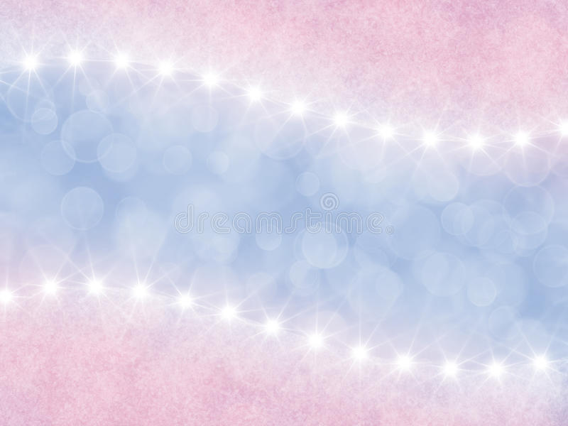 Abstract pink and lilac background with stars royalty free illustration