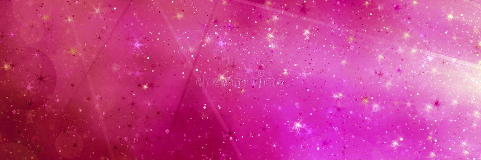 Abstract pink magic panoramic background stock photo