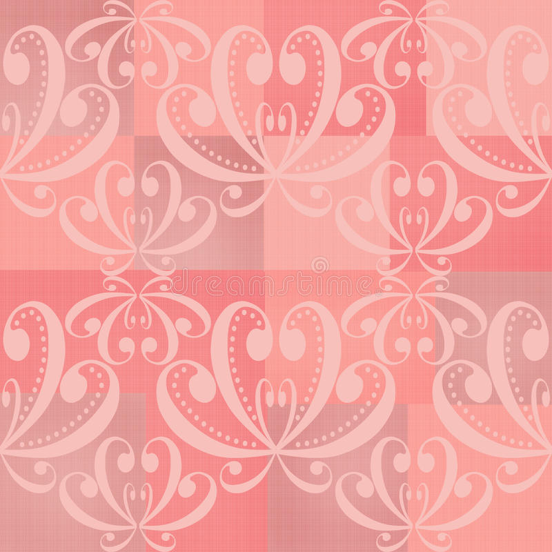 Abstract pink ornament seamless pattern stock illustration
