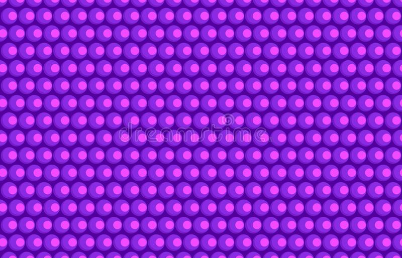 Abstract pink purple ball flat style vector on violet background pattern royalty free stock photo