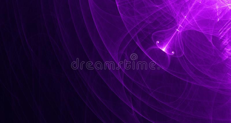 Abstract pink and purple light glows, beams, shapes on dark background royalty free stock photography