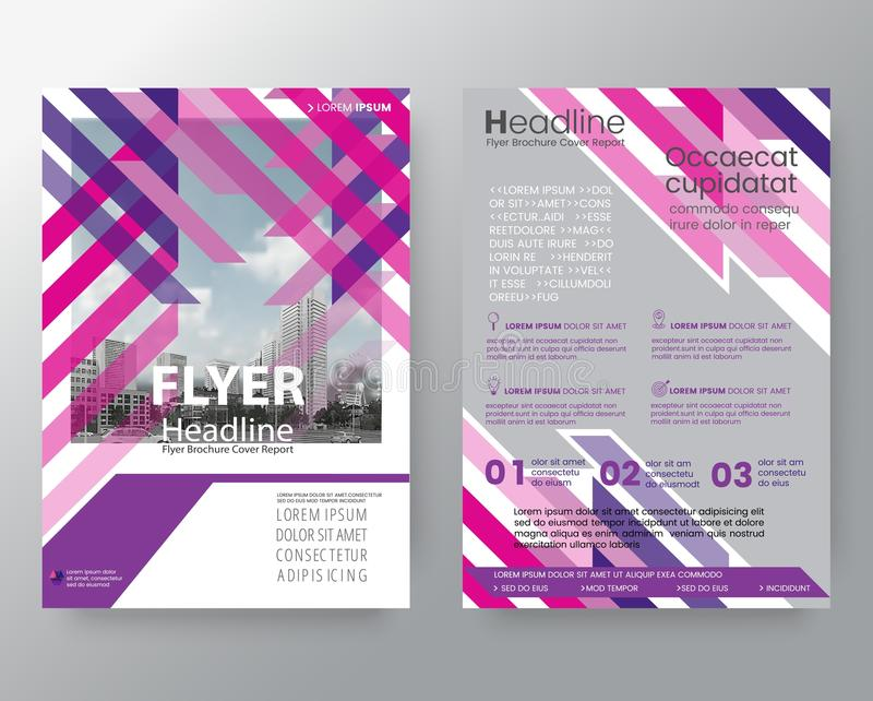 Abstract pink & purple weave Brochure annual report cover Flyer vector illustration