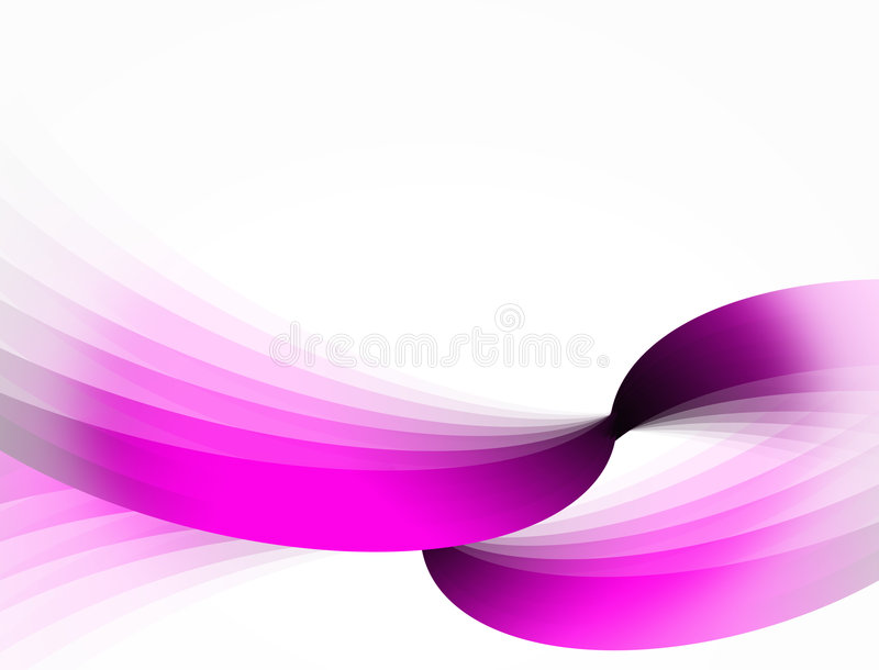 Abstract pink ribbons stock photography